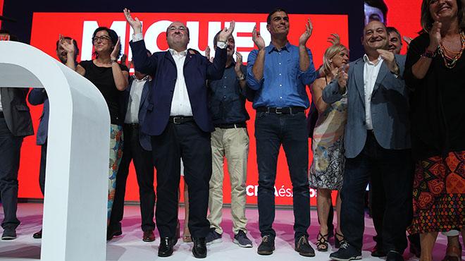 Iceta celebra su nombramiento como candidato a l Generalitat