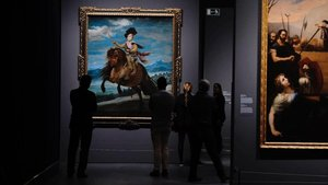 El príncipe Baltasar Carlos, a caballo de Velázquez, en la muestra de CaixaForum.