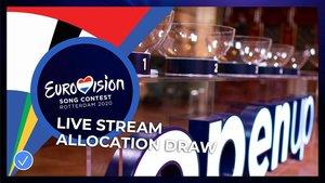 Imagen del sorteo de semifinales del Festival deEurovisión 2020.