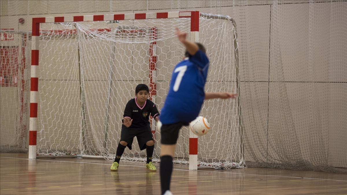 Imagen durante un partido de fútbol sala en el Baix Llobregat