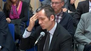 Iñaki Urdangarin, durante el judici a Palma.