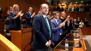 Investidura de Javier Lambán, presidente socialista de Aragón, el pasado julio.