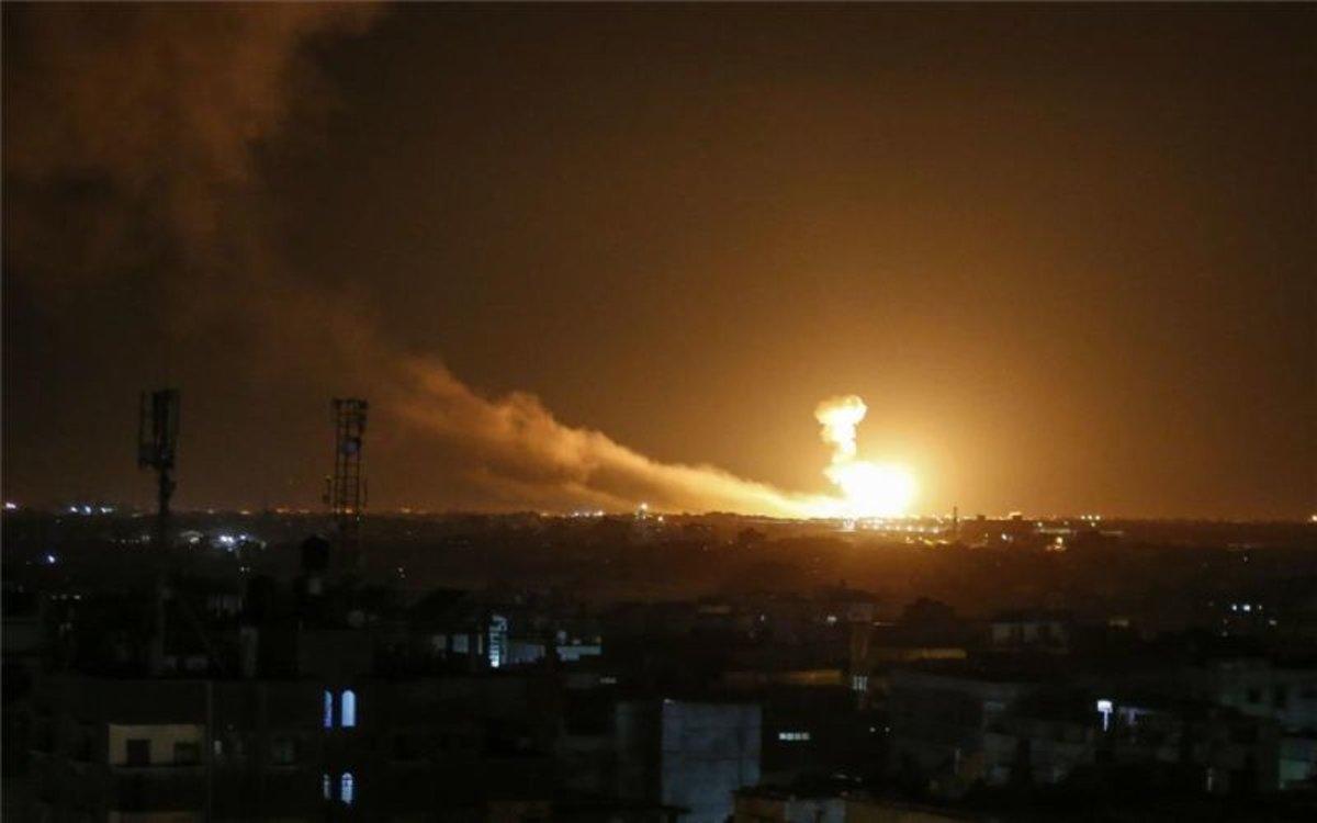 Ataques con misiles de Isarel en Gaza.