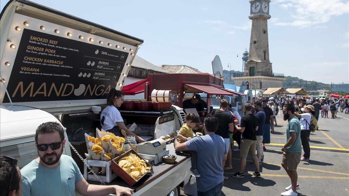 El festival gastronómico ha aterrizado en el Port Vell de Barcelona.