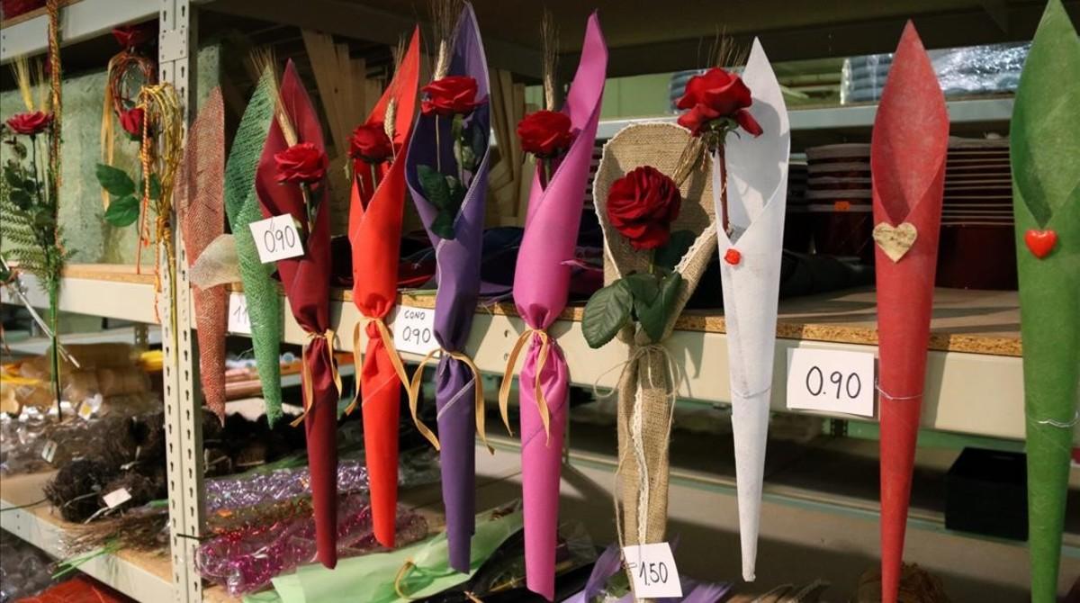 Preparación del Sant Jordi en Mercabarna.