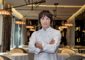 Jordi Cruz, en el restaurante Àbac.