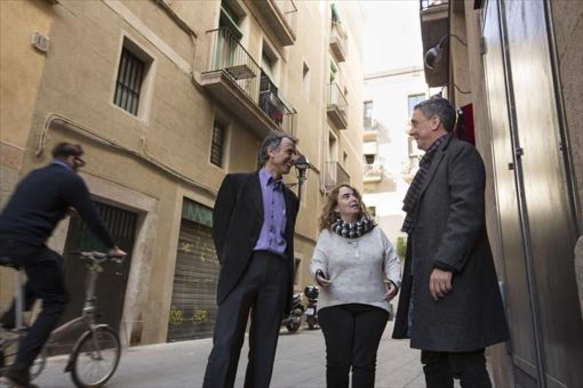 Lluís Sanz, Núria Burguillos y Carles Vicente.
