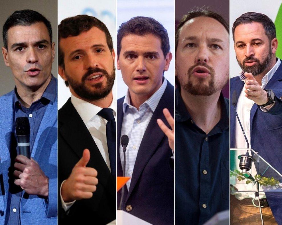 Los líderes de los principales partidos políticos con representación parlamentaria