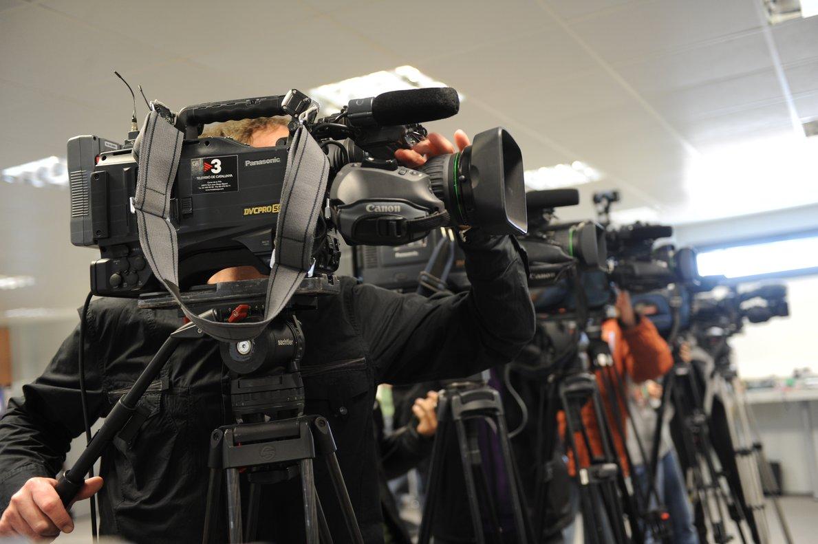Periodistas en una rueda de prensa.