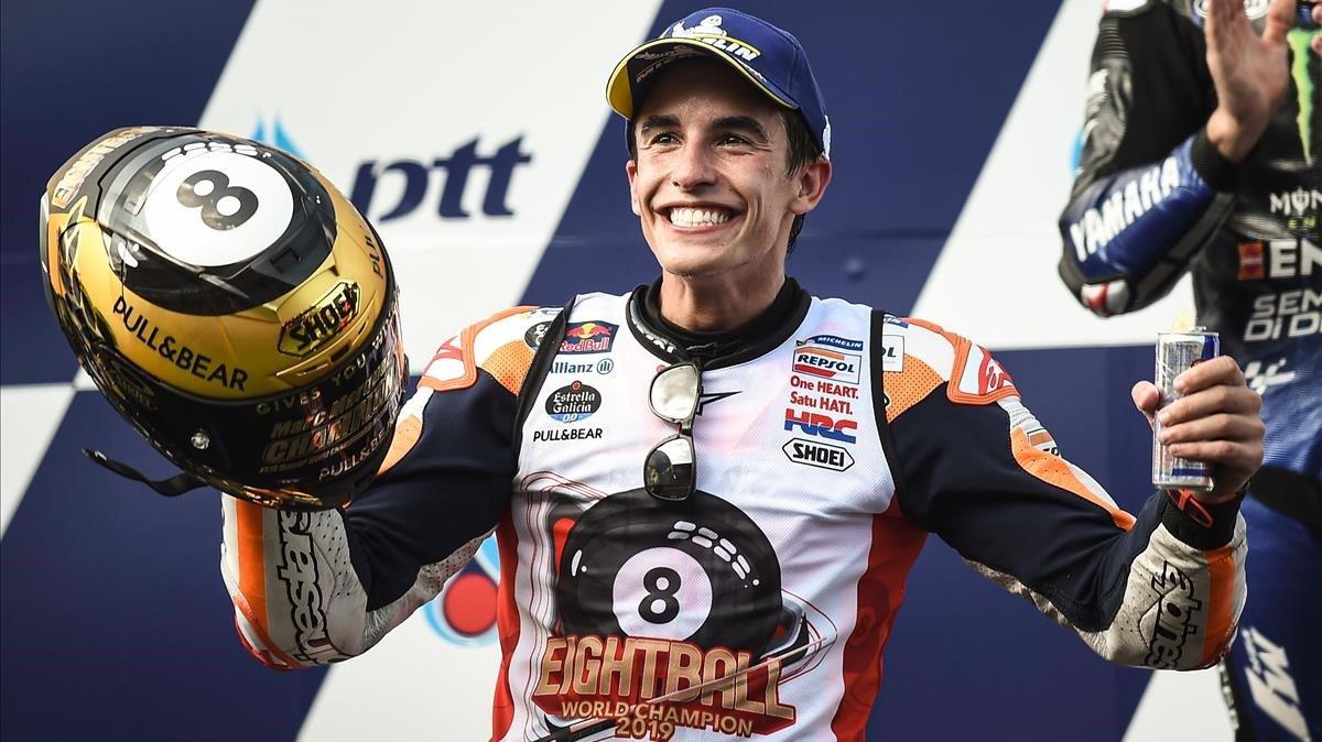 Marc Márquez (Repsol Honda) se proclama campeón del mundo en Tailandia