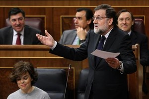 Mariano Rajoy interviene en el pleno del Congreso.