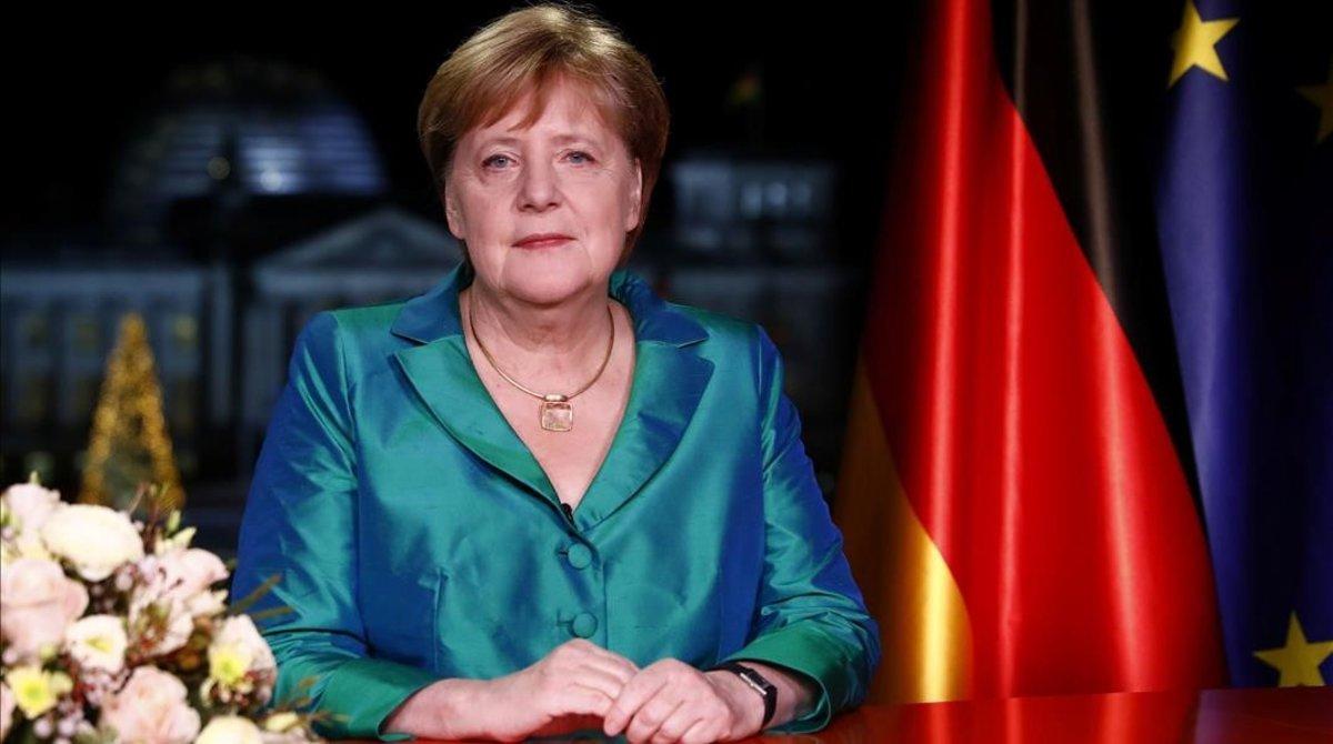 Merkel en su discurso de Fin de Año.