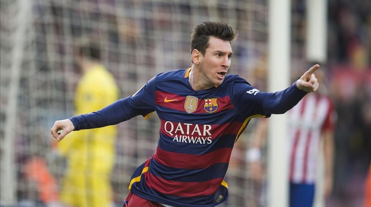 Messi, durante un partido de Liga reciente.