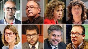 Miquel Buch, Josep Bargalló, Ester Capella, Teresa Jordà, Elsa Artadi, Pere Aragonès, Albert Batet y Marc Solsona