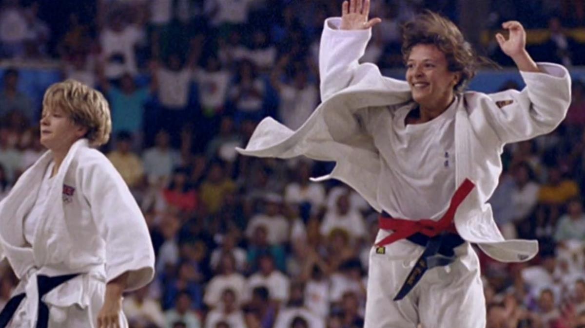 Miriam Blasco, el día de 1992 en que se proclamó campeona olímpica.