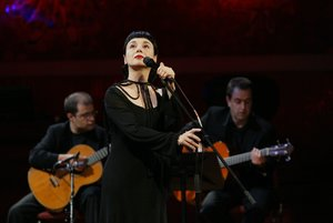 La cantante Mísia en una de sus últimas actuaciones en Barcelona.