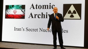 Netanyahu durantesu exposición por televisión.