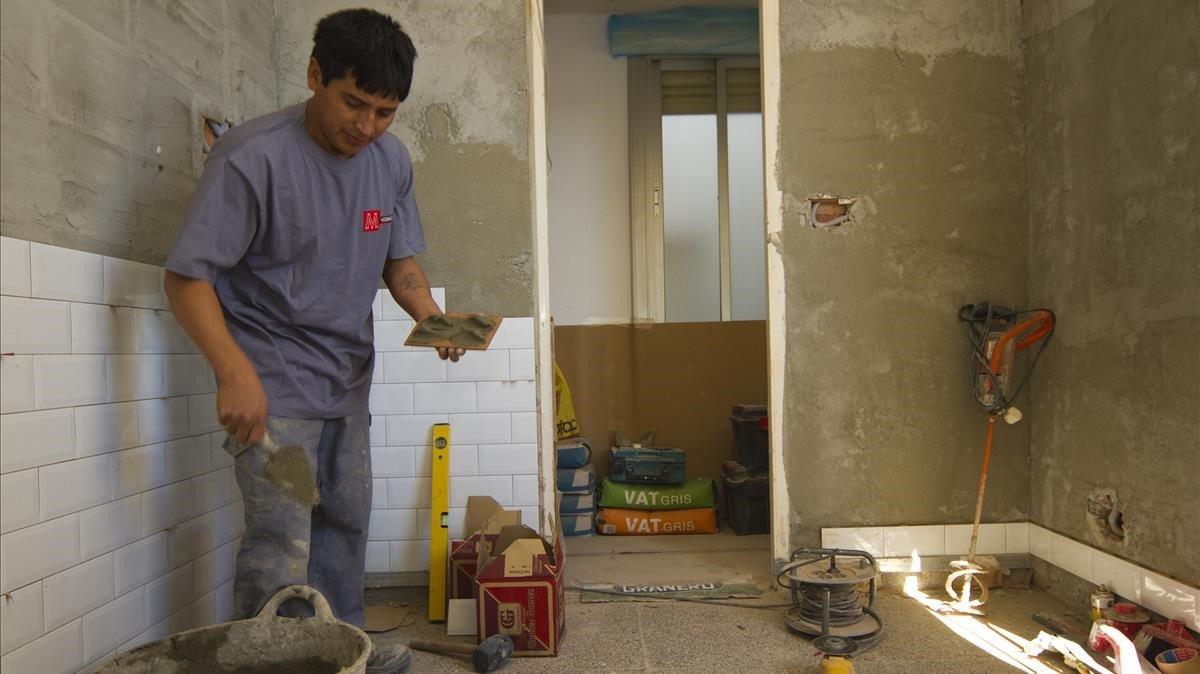 Obras de reforma en una cocina