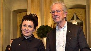 Olga Tokarczuk y Peter Handke, este sábado en la Academia Sueca.