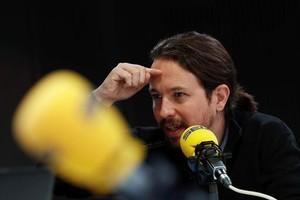 Pablo Iglesias, ayer, en los estudios de la cadena SER.