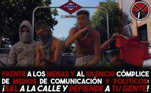Proclama racista que Bastión Frontal difundió por redes sociales.