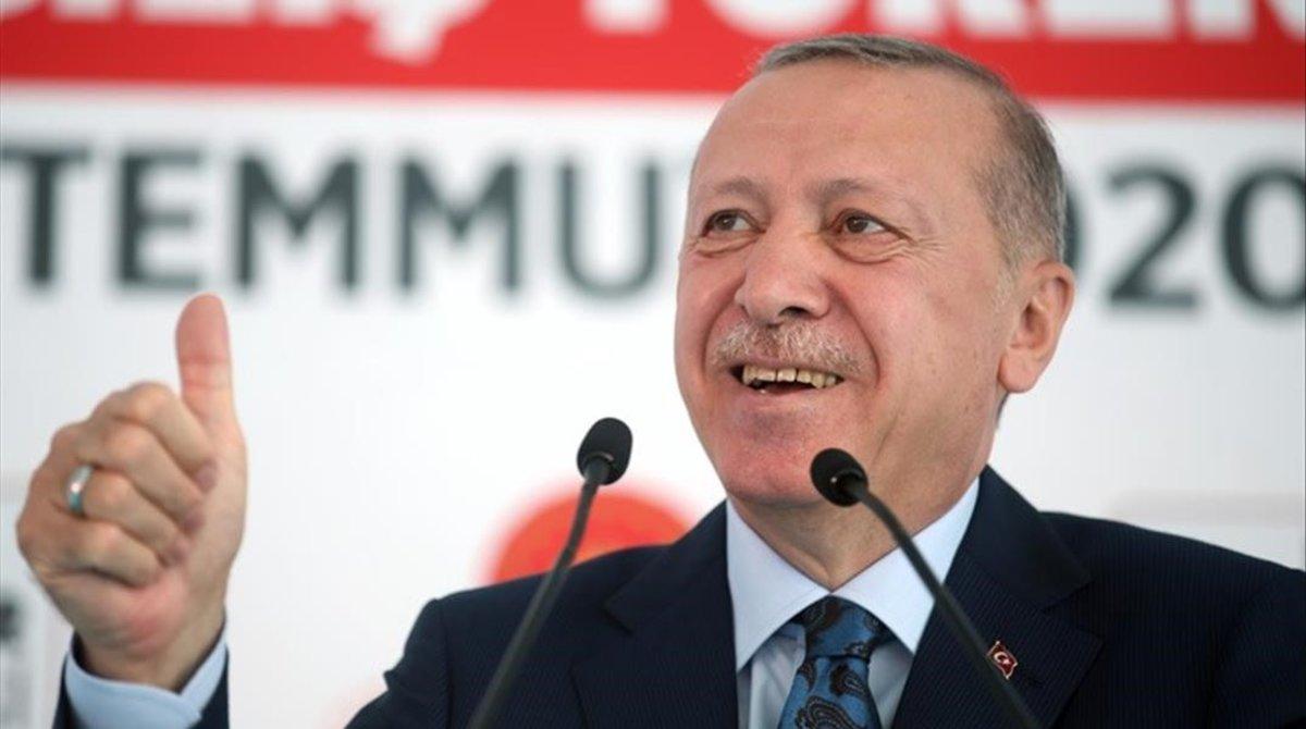 Recep Tayyip Erdogan, en un acto a principios de mes.
