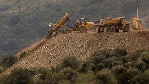 El rescat del Julen del pou de Màlaga incorpora nova maquinària pesant