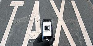 Reserva de un coche de Uber.