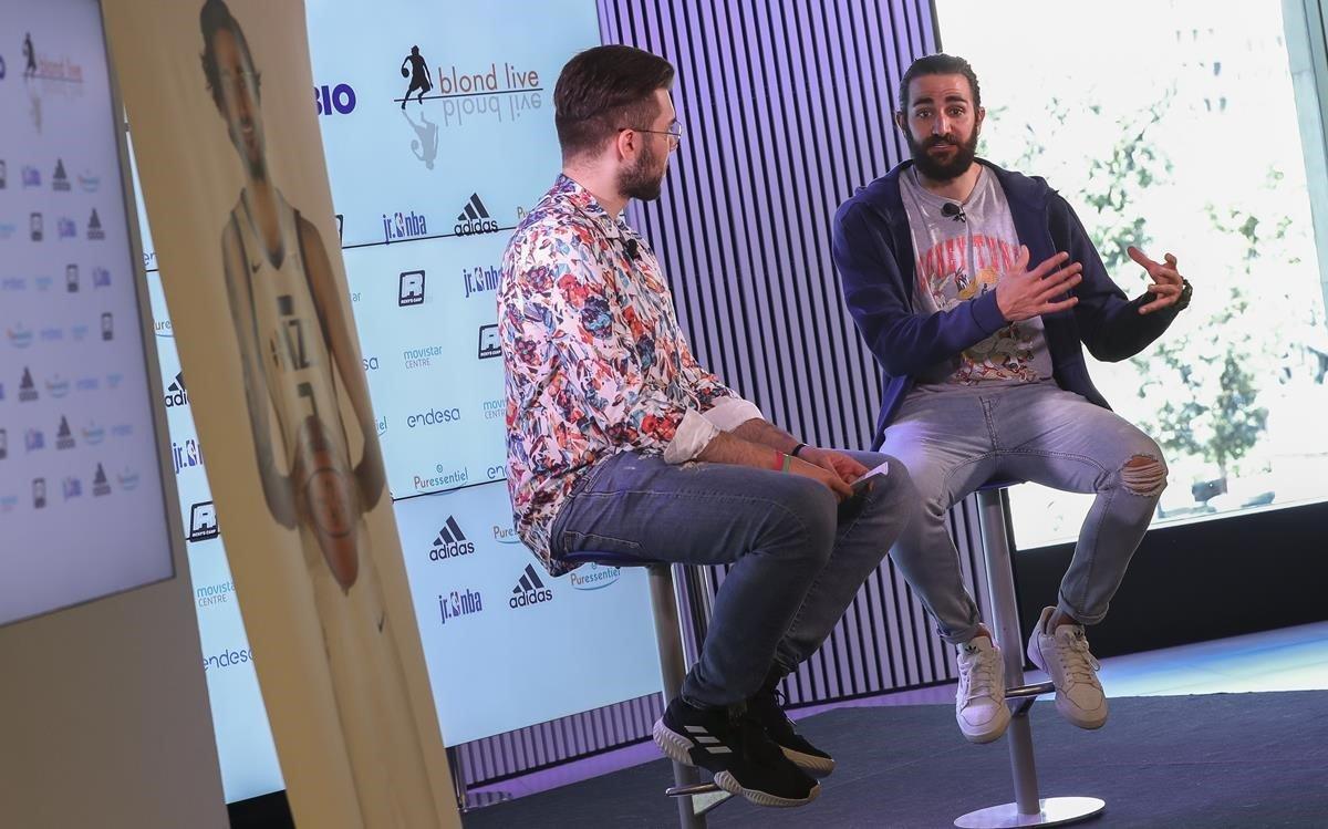 Ricky Rubio, en el acto de presentación de su campus en Barcelona