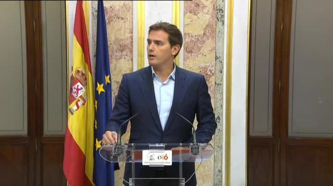 El presidente de Ciudadanos pide además la comparecencia del Presidente.