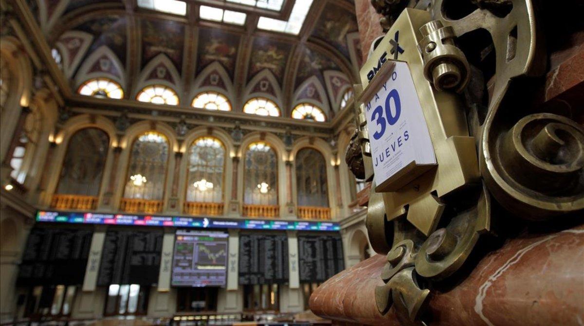 Una imagen del parquet de La Bolsa de Madrid del 30 de mayo.
