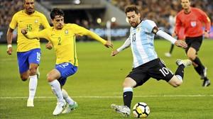 La Argentina de Messi vence a Brasil en el debut de Sampaoli
