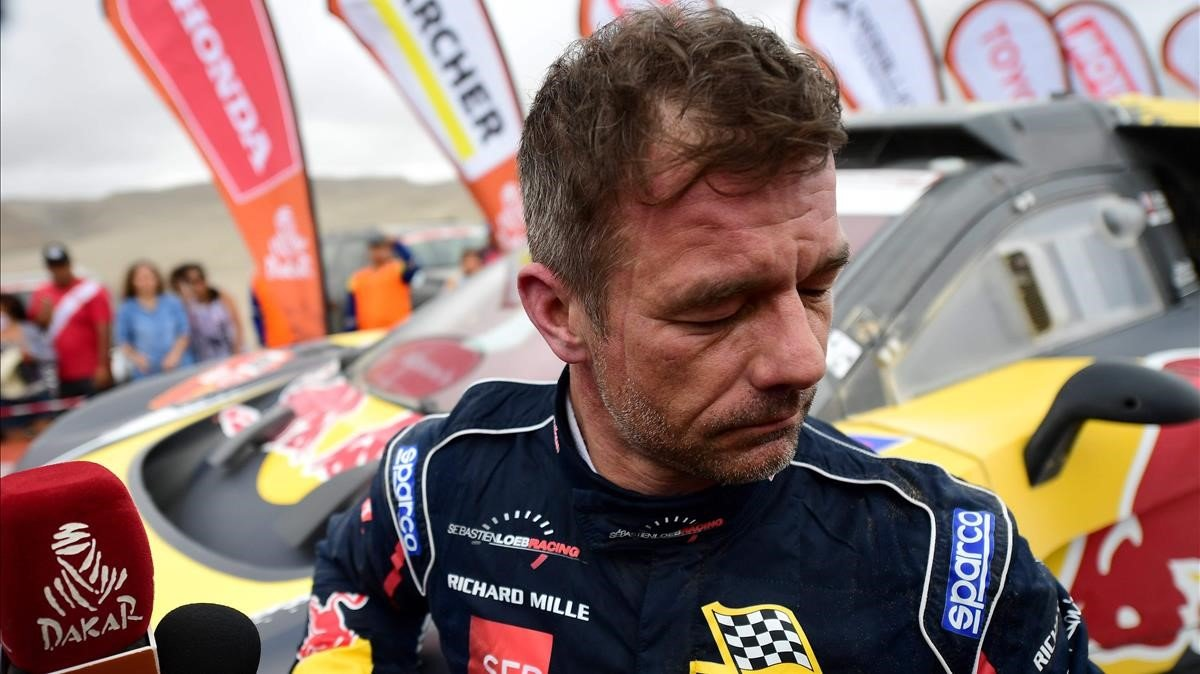 Sébastien Loeb (Peugeot), disgustado a su llegada a San Juan de Marcona.