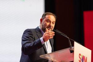 15/12/2019 El secretario de Organización del PSOE y ministro de Fomento en funciones, José Luís Ãbalos, en el 14 Congreso del PSC este domingo