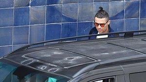 Cristiano Ronaldo, a su llegada a Funchal, precisamente al aeropuerto que lleva su nombre.