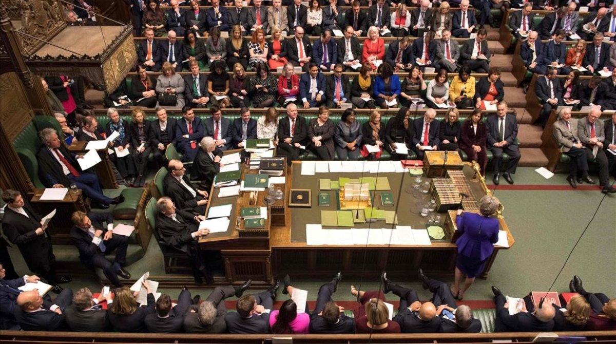 La sesión del Parlamento, ayer.