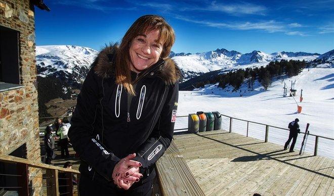 Blanca Fernández Ochoa, fotografiada en Grand Valira (Andorra) en enero de 2012.
