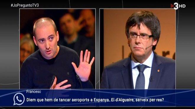 Lluís Cano, director de escuela pública, interpela al President (TV-3).