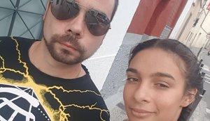 Tamara de Castro y su novio, Alexandre López, en una imagen cedida por él.