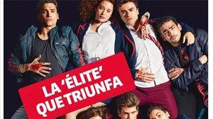 Portada del Teletodo protagonizada por los actores de la serie de NetflixÉlite.