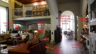 Escenarios de 'SQE': la casa de la familia Saura (con indicaciones del director artístico).