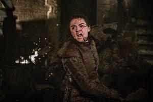 Maisie Williams, como Arya Stark, en el tercer episodio de la octava temporada de Juego de tronos.