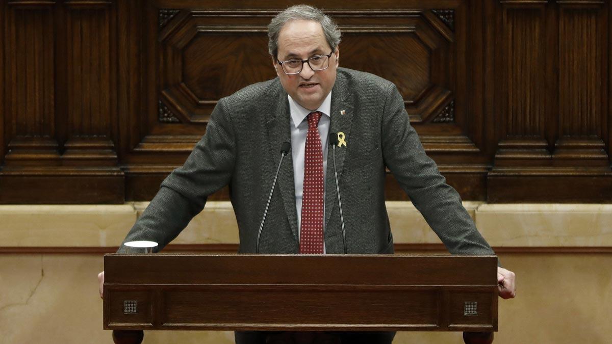 Torra: Estoy dispuesto a apartarme para que Puigdemont pueda ser investido.
