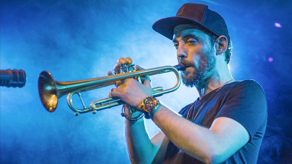 El trompetista Raynald Colom, en la Sala La Nau.