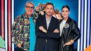 Florentino Fernández, Frank Blanco y Vicky Martín Berrocal, en el programa 'Typical Spanish', de TVE-1.