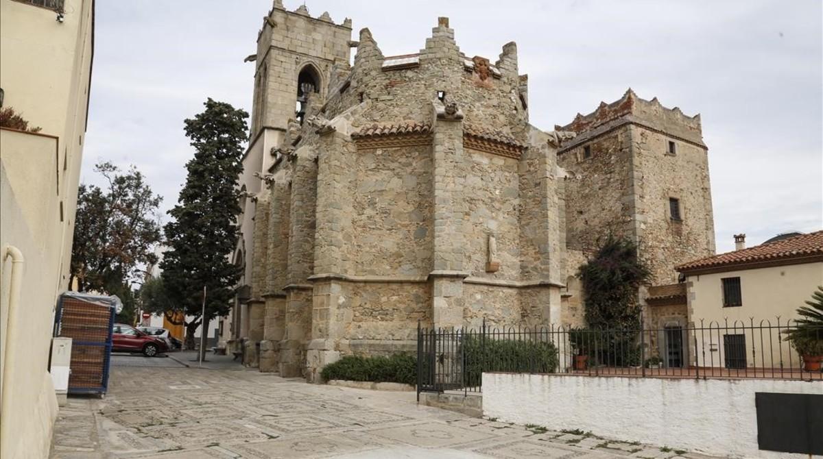 Una imagen de la plaça de lEsglésia de Argentona.