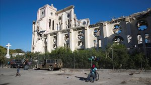 Vista general de la Catedral de Puerto Principedestruida hace una decada por un terremotoeste juevesen Puerto Principe (Haiti)