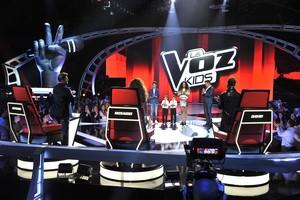 Una imagen de la final de la tercera temporada del concurso musical La voz kids.