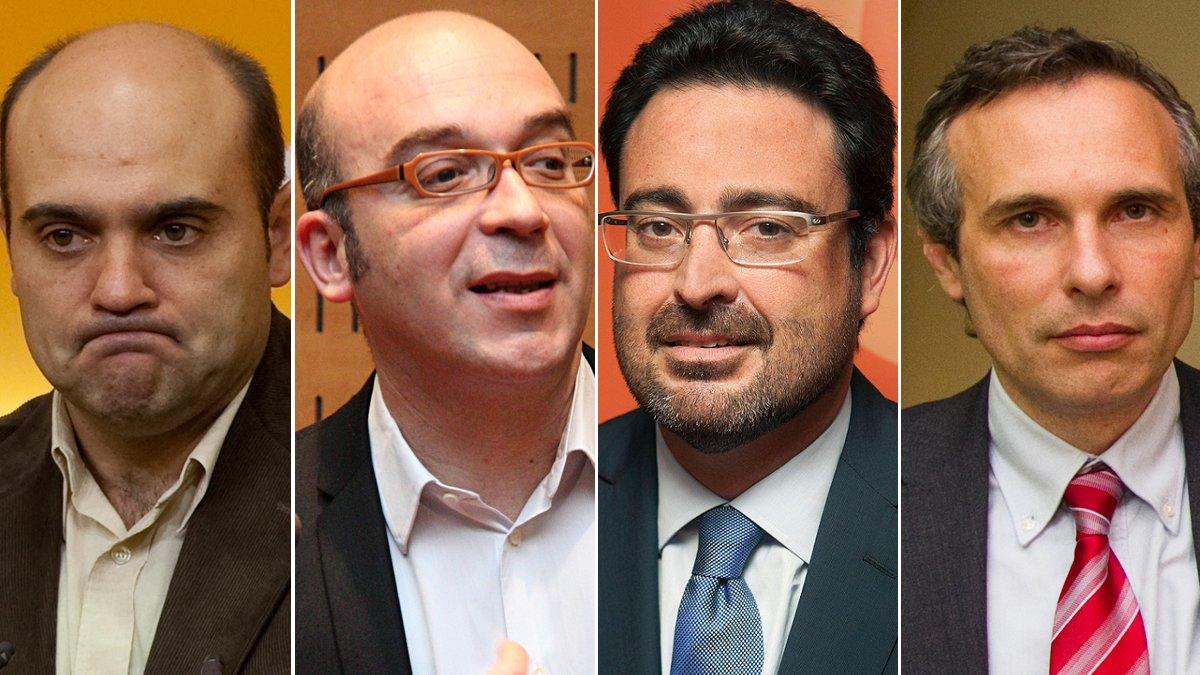 Xavier Vendrell, Oriol Soler,David Madí y Josep Lluís Alay.