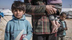 Una familia siria.